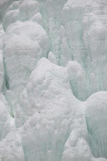 氷結した滝のアップの写真・画像素材[1129652]