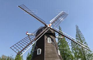 安城市デンパークの風車の写真・画像素材[1139922]