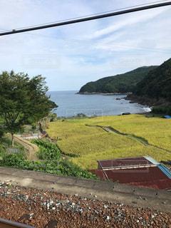 駅から見る海の写真・画像素材[1104390]