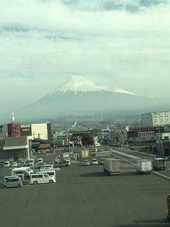 新幹線からの富士の写真・画像素材[1105321]