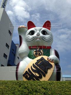 巨大招き猫の写真・画像素材[1110439]