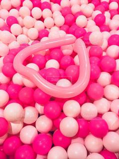 ピンクのハートの写真・画像素材[1107259]