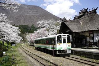 電車は山の中腹に駐車します。の写真・画像素材[1146162]