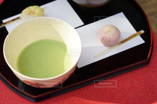 食品とコーヒーのカップのボウルの写真・画像素材[1621092]