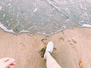 ビーチ/一歩踏み出すの写真・画像素材[1146300]