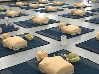 心肺蘇生法の講習会の写真・画像素材[1122039]