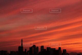 夕空も暑そうの写真・画像素材[1416681]