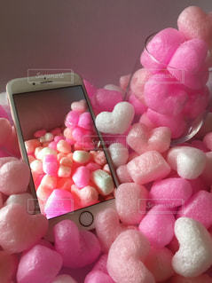 iPhoneとハートいっぱい - No.1185629