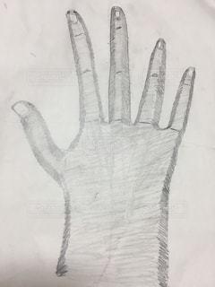 手のスケッチの写真・画像素材[1216882]
