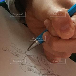 絵の勉強中の写真・画像素材[1705332]