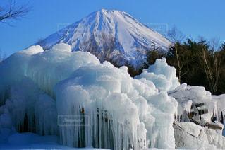 富士山と氷の写真・画像素材[1114811]