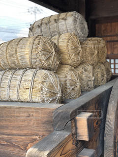 木製の椅子のバレルの写真・画像素材[1112903]