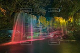 鍋ヶ滝 ライトアップの写真・画像素材[1118994]