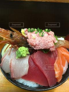 築地の海鮮丼の写真・画像素材[1113462]