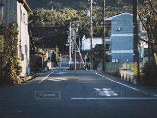 田舎の街の通りの写真・画像素材[1117451]