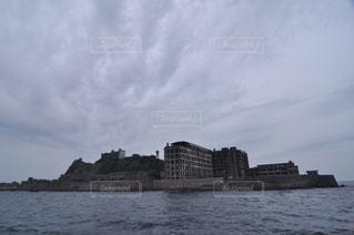 海原の炭鉱 軍艦島の写真・画像素材[1113775]