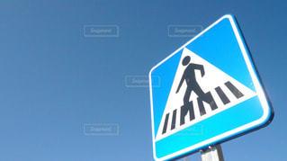 イタリアの道路標識の写真・画像素材[1114736]