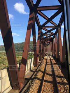 線路と鉄橋の写真・画像素材[1116013]
