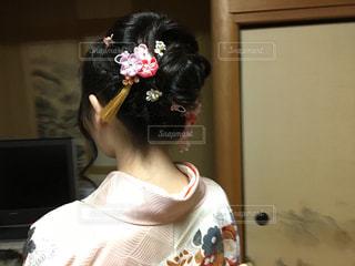 成人式のヘアアレンジの写真・画像素材[1535666]