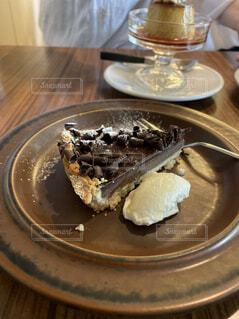 チョコレートタルトの写真・画像素材[4568816]