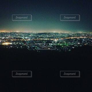 山の上から福岡の街の写真・画像素材[1118301]