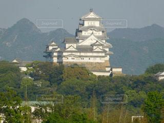 横からの姫路城の写真・画像素材[1139637]