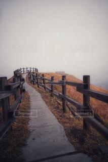 水の体の横に木製の桟橋の写真・画像素材[1709870]