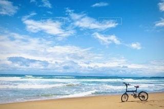 海の隣の砂浜の写真・画像素材[3376103]
