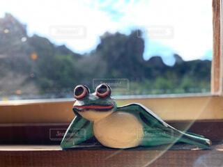 カエルの置物の写真・画像素材[3931157]