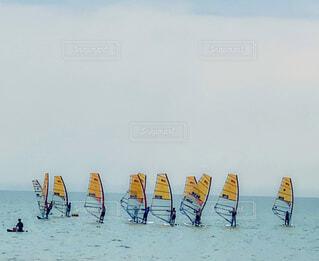 ウインドサーフィンの写真・画像素材[4593926]