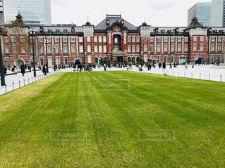 東京駅前の芝生の写真・画像素材[1118711]