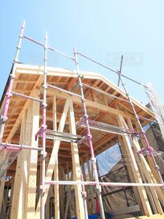 住宅の新築工事現場の写真・画像素材[2909555]