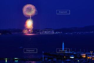 江ノ島からの鎌倉花火大会の写真・画像素材[1119487]