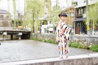 京都 白川 行者橋の写真・画像素材[1119494]