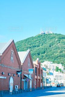 函館山と金森倉庫の写真・画像素材[1361056]