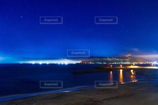 漁り火と函館山の写真・画像素材[1363893]