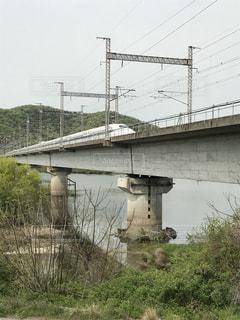 吉井川からの新幹線の写真・画像素材[1127740]