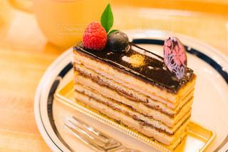 オペラケーキの写真・画像素材[3240243]