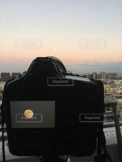 満月の撮影の写真・画像素材[1122804]