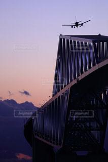 東京ゲートブリッジと飛行機の写真・画像素材[1122825]