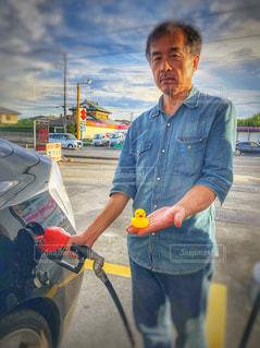 給油の写真・画像素材[1408595]