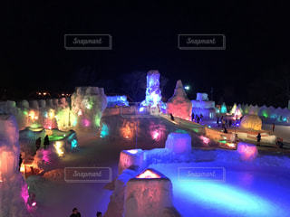 氷濤祭りの写真・画像素材[1120063]