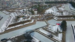 冬の五稜郭の写真・画像素材[1120120]
