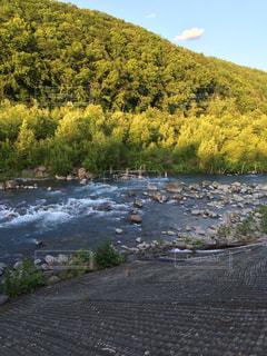 流れる川の写真・画像素材[1120121]