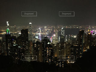 ビクトリア ピークの夜景の写真・画像素材[1118687]