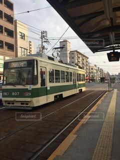 広島市内を走る路面電車の写真・画像素材[1121853]