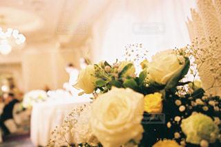 花のように作られたケーキの写真・画像素材[1330088]