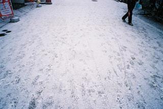 雪の中に立っている人々のグループの写真・画像素材[2381622]