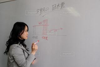 目標設定中の女性の写真・画像素材[2949736]