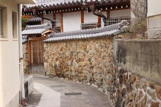 小豆島の迷路の街の小道の写真・画像素材[1023470]